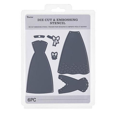 Darice® - Craft Cutting Dies: Wedding Dress Parts, 6 pieces