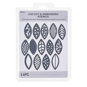 Darice® - Craft Cutting Dies: Designed Leaves, 14 pieces