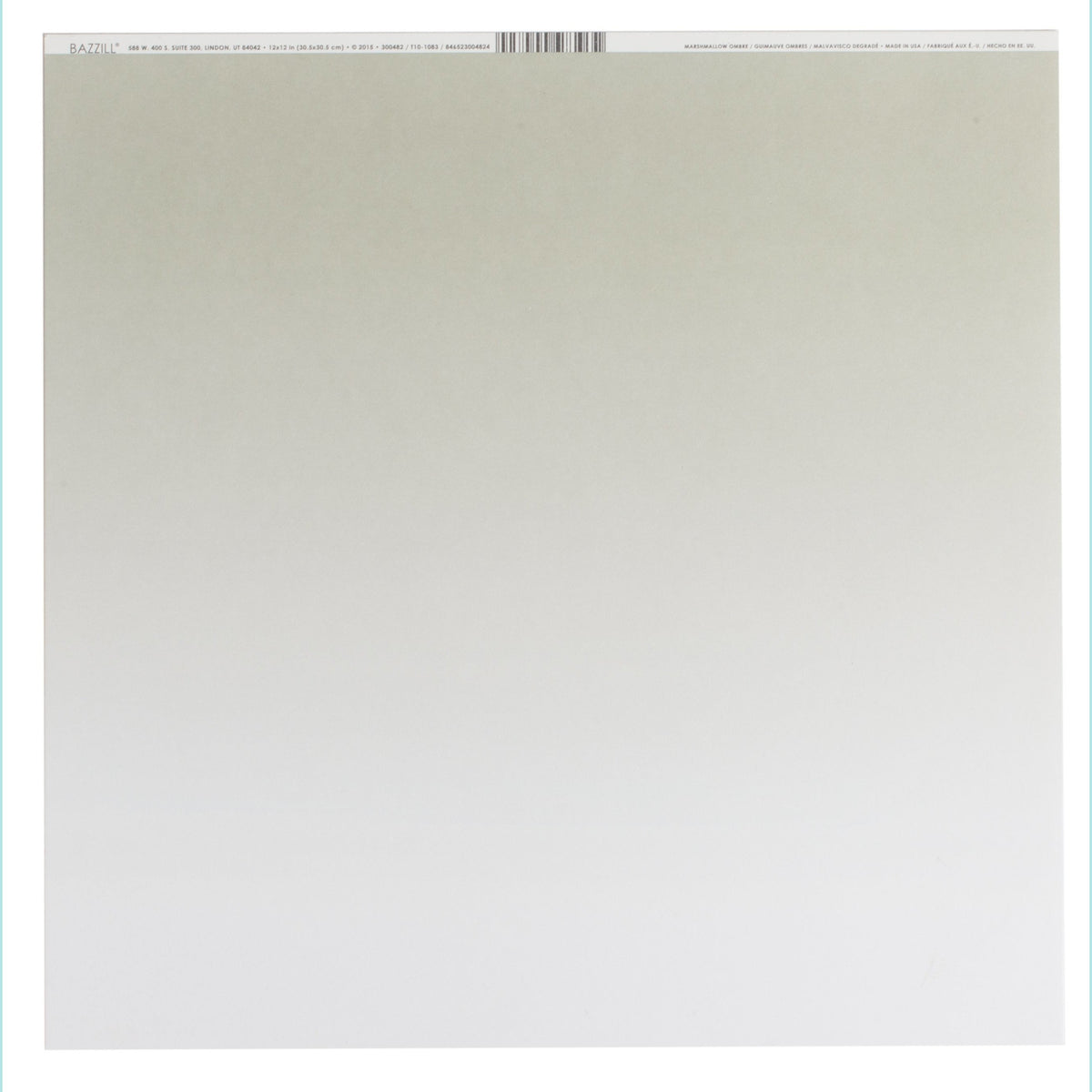 Bazzill Basics Ombre Cardstock 12 x 12 Inch Robins Egg 25 Pack