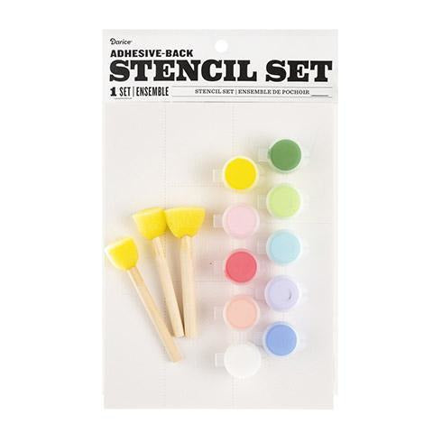 Darice® - Floral Themed Stencil Set with Fabric Paint
