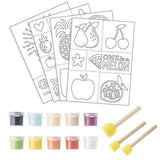 Darice® - Fabric Paint & Stencil Set: Garden, 35 pieces