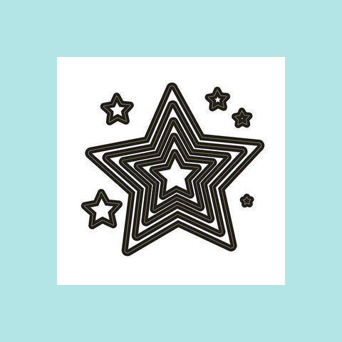 Darice® - Craft Dies: 10 Nested Stars Set