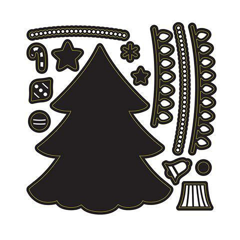 Darice® - Craft Dies: Build A Holiday Tree Set
