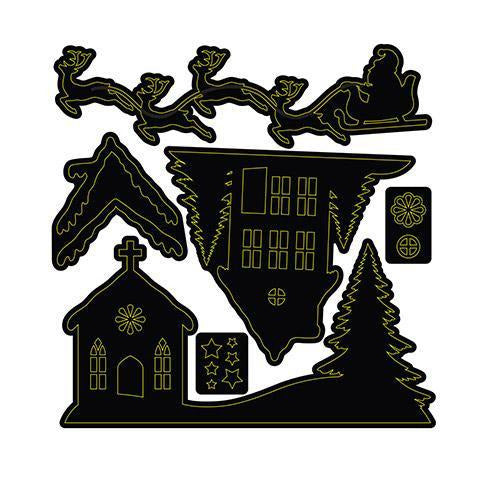 Craft Dies: Rooftop Santa Set