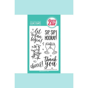 Avery Elle Sip Sip Hooray Clear Stamps