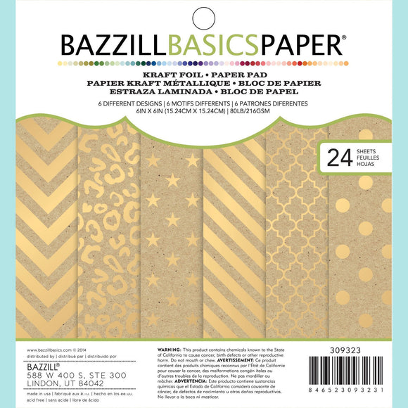 Bazzill Speciality Kraft with Gold Foil