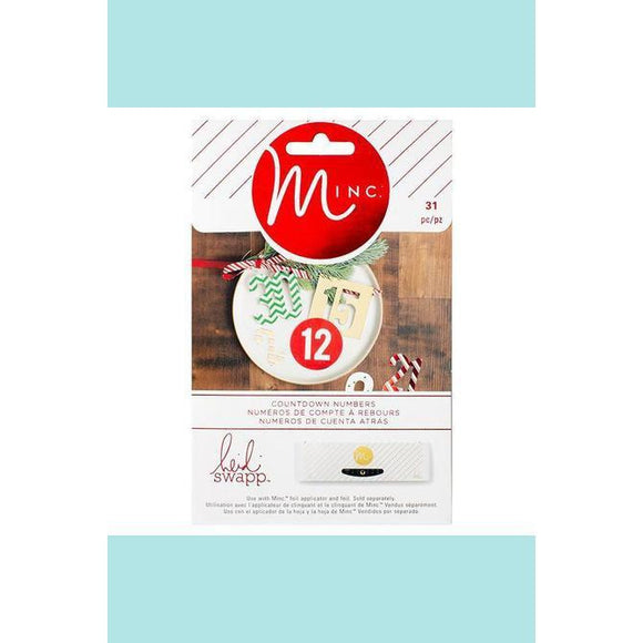 American Crafts - Heidi Swapp - Minc Christmas Chipboard Numbers