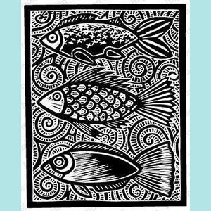 Impression Obsession - Fish Stamp