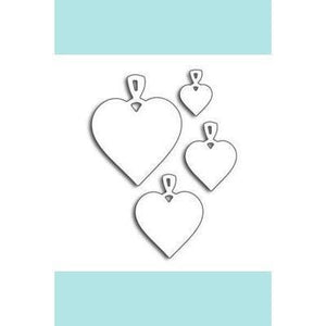 Penny Black Heart Charms (metal die)