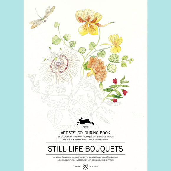 Still Life Bouquets - Pepin Artists Colouring Book