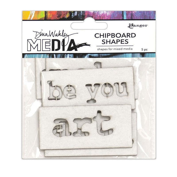Ranger - Dina Wakley Media Chipboard Shapes Words