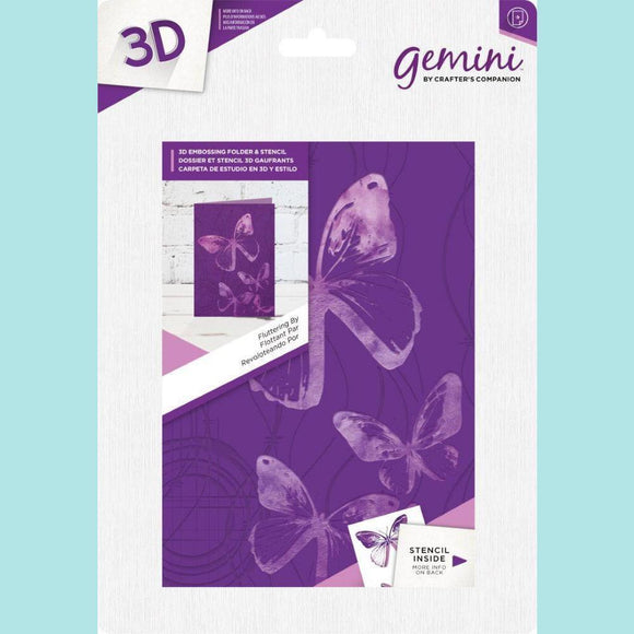 Crafter's Companion Gemini 3D Embossing Folder & Stencil - Fluttering By