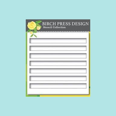 Birch Press - Bold Stripes Stencil