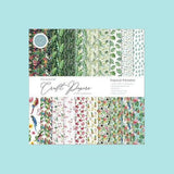 "Craft Consortium - The Essential Craft Papers - 6""x 6"" and 12""x12""  Tropical Paradise"