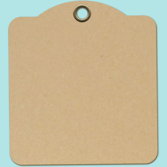Graphic 45 - Staples Square Tags - Kraft