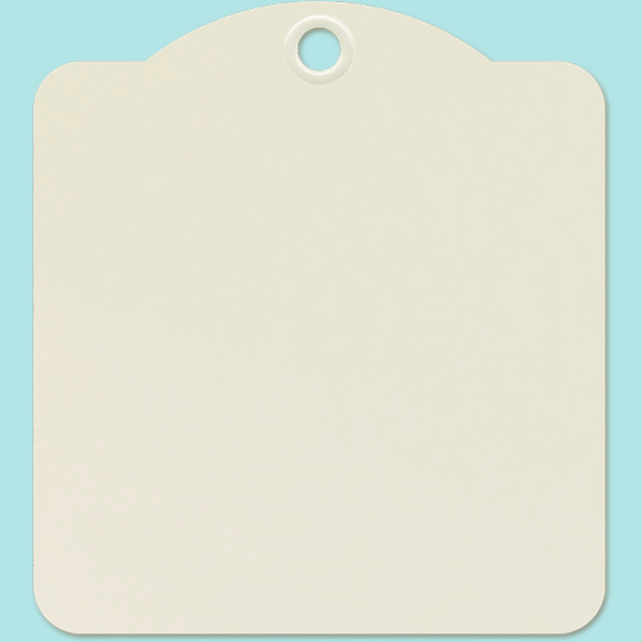 Graphic 45 - Square Tags - Ivory