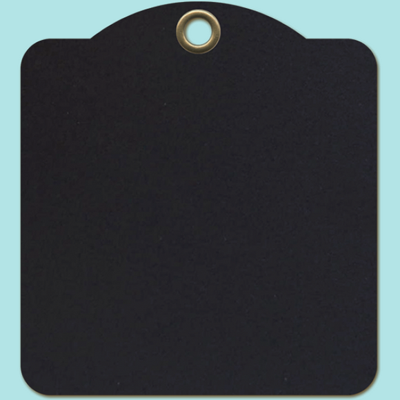 Graphic 45 - Staples Square Tags - Black