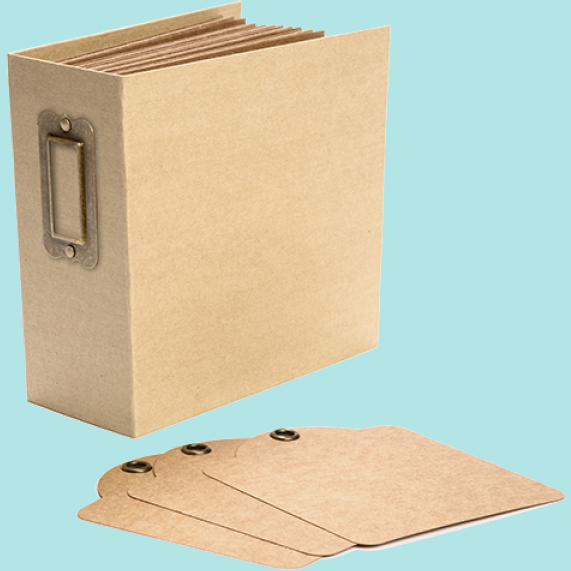 Graphic 45 - Square Tag & Pocket Album - Kraft
