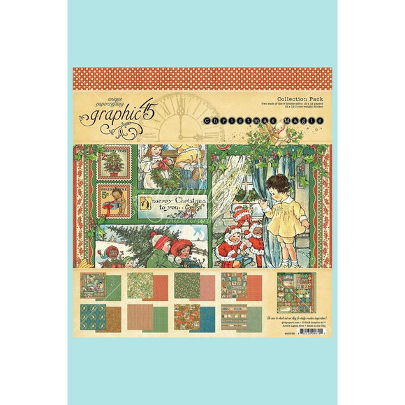 "Graphic 45 Christmas Magic Collection Pack 12"" x 12"""