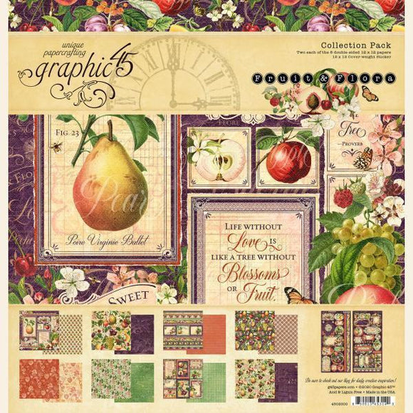 Graphic 45 - Fruit & Flora 12x12 Collection Pack