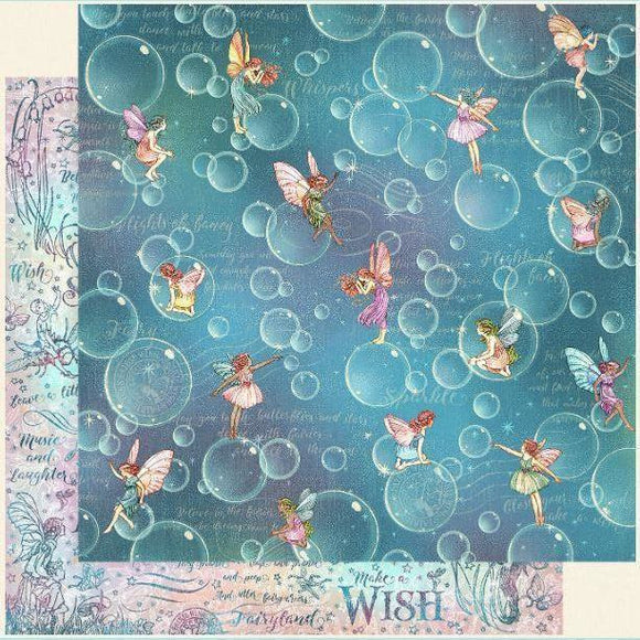Graphic 45 - Fairie Wings Collection - Blowing Bubbles 12 x 12 Paper