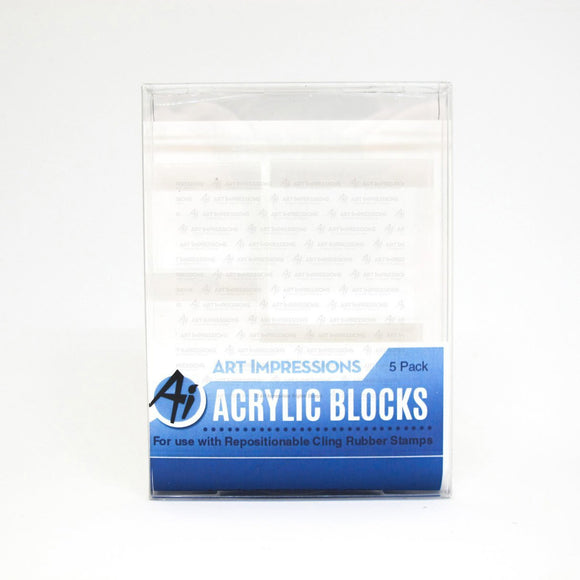 Art Impressions - Acrylic Block 5 Pack (variety)
