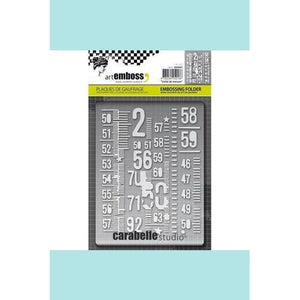 Carabelle Studio - Embossing Folder - Unite De Measure -Numbers