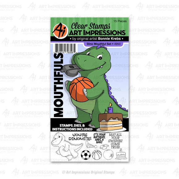 Art Impressions - Dino Mouthful Set