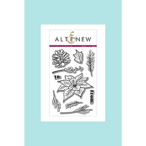 Altenew Stamps Poinsettia And Pine