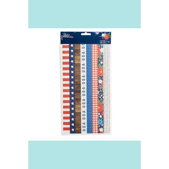 American Crafts - Pebbles - America The Beautiful Collection - Washi Tape Book