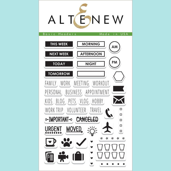 Altenew - Basic Headers Stamp Set