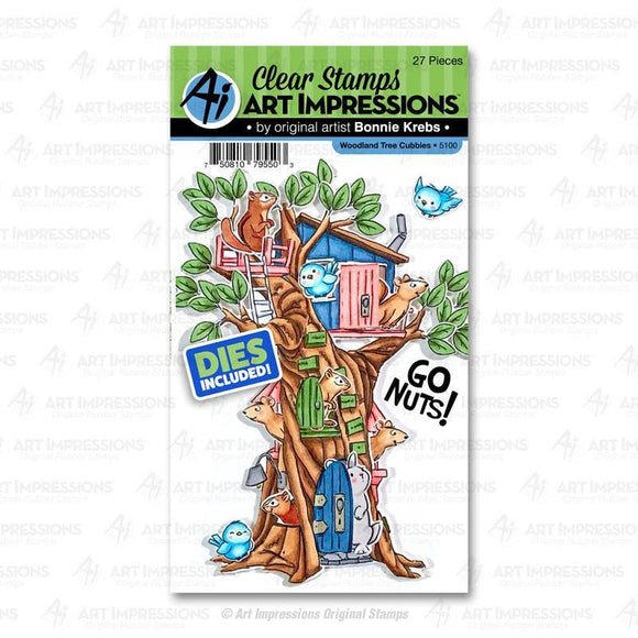 Art Impressions - Woodland Tree Cubbies Stamp and Die
