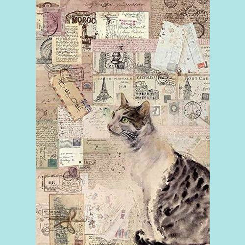 Stamperia - A4 Rice Paper Packed Cat
