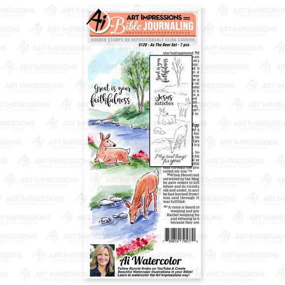 Art Impressions - As The Deer Stamp Set