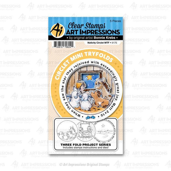 Art Impressions - 5175 – Nativity Circlet MTF Stamps and Dies