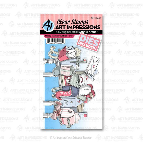 Art Impressions - 5181 – Happy Mailbox Cubbies Stamps and Dies