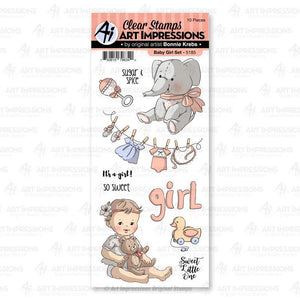 Art Impressions - 5185 – Baby Girl Clear Stamp Set