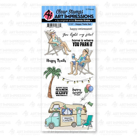 Art Impressions - 5187 – Happy Trails Clear Stamp Set