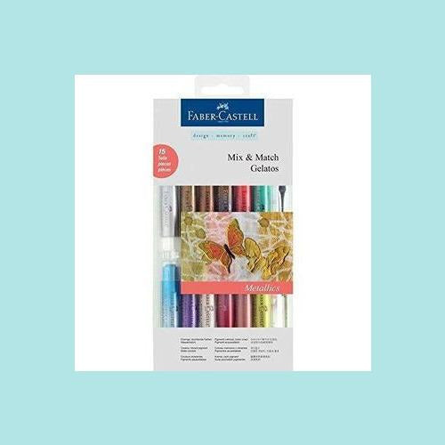 Faber - Castell Gelatos Gel Pastels - Metallics Assorted Box