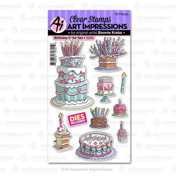 Art Impressions - Birthday Cake Set
