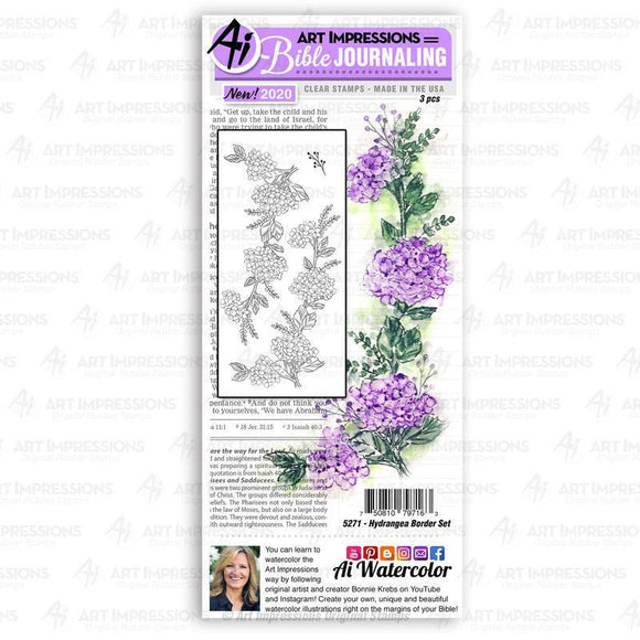 Art Impressions - Hydrangea Border Set