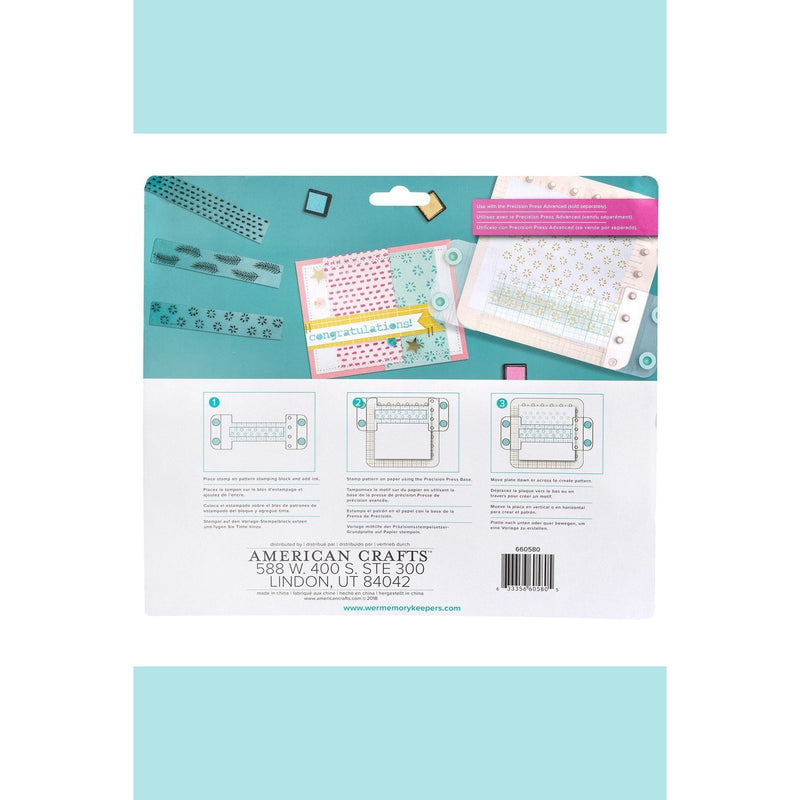 We R Memory Keepers  WRMK - Precision Press Advanced - Pattern Stamping Block (5 piece)