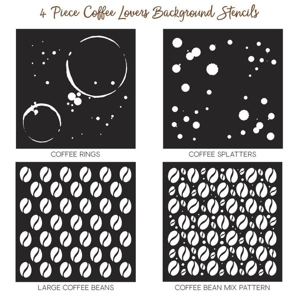 Honey Bee - Coffee Lovers Background Stencils | Set of 4