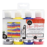American Crafts - Color Pour Pre-Mixed Metallic Pouring Paint Kit 4 pack