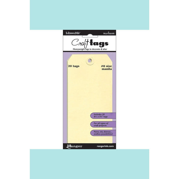 Tim Holtz® Distress Tags –  Size #8 Manila tags.