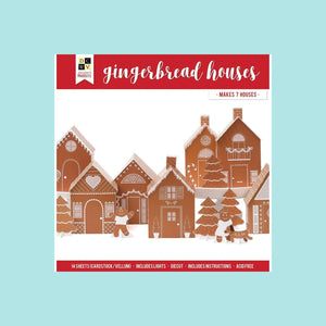 Paper Project - DCWV - 12 x 12 - Christmas  - Ginger Bread Houses - 7 houses