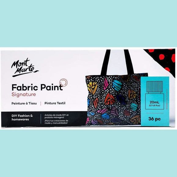 Mont Marte - Signature Fabric Paint Set 36pc
