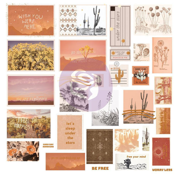 Prima Marketing - Golden Desert Collection Ephemera - 30 pcs with foil details