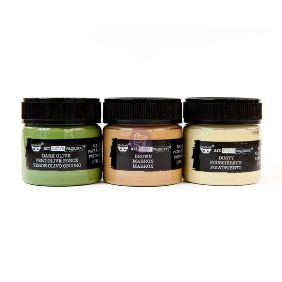 Prima Marketing - Finnabair Art Extravagance - Rust Paste Set - Camouflage
