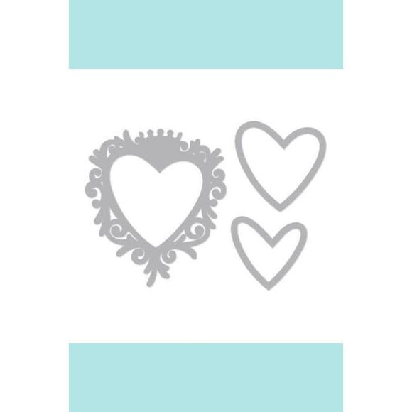 Sizzix Framelits Die Set 4PK - Frame, Heart w/Crown